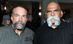 """""""Machine Gun Preacher"""" Sam Childers and Big Al Aceves, founder of the Mongols, are now reformed from the motorcycle gang lifestyle."""