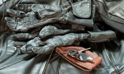 Leather is like stylish body armor. See more pictures of motorcycles.