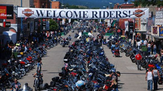 What are the most famous motorcycle rallies in the U.S.?