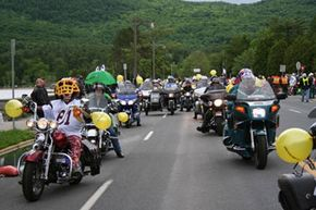 The Americade rally, held in Lake George, N.Y., tends to be much quieter than other motorcycle rallies.