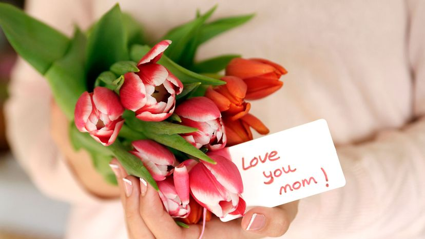 tulips for mom on Mother's Day