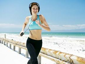 Will innovative technology make it possible for this runner to power her MP3 player with her own movements? See more green science pictures.