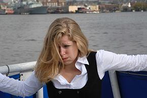 Motion sickness happens when there's a discrepancy in your body's motion sensors. Your inner ear senses the way the waves are rocking the boat, but your eyes aren't detecting any movement.