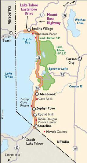 View Enlarged Image This map details Lake Tahoe-Eastshore Drive
