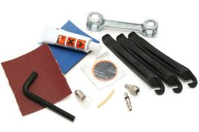 Bike repair tools such as these are helpful to have in an emergency while you're on the trail.