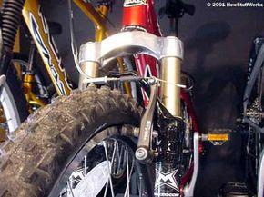 A typical mountain-bike brake