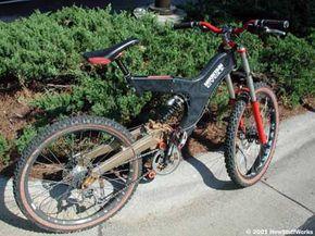 A downhill racing bike