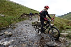 If you're an intermediate bike rider, you might try a trail with a few rocks, hills and streams to keep it interesting.