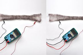 """Apply a bit of current from a battery and the material can expand and flex to """"nudge"""" you when you make mistakes, as well as provide confirmation of your corrections."""