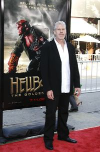 Turning Ron Perlman into Hellboy took between two and four hours every day.