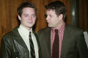 """Movie make-up artists spent hours transforming Elijah Wood, left, and Sean Astin, right, into Hobbits for """"The Lord of the Rings"""" trilogy."""