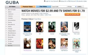 Guba offers free and premium movies.