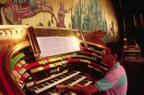 Atlanta, Georgia's historic Fox Theater features an organ that's often used to accompany sing along events that run with classic films.
