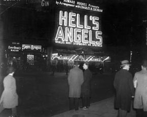 """Eccentric millionaire Howard Hughes directed """"Hell's Angels,"""" which launched Jean Harlow's career. See more movie making pictures."""