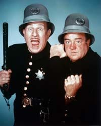 Mark Sennett produced the Keystone Kops, which are mocked here by famous comedy duo Abbott & Costello.