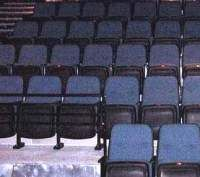 A theater with stadium seating