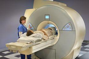 Patient going into MRI machine