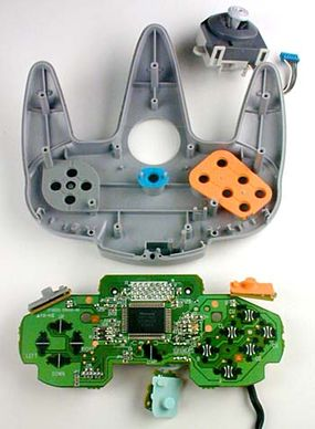 Inside the N64 controller.