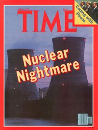 An April 9, 1979 issue of TIME magazine highlighting the Three Mile Island nuclear controversy.