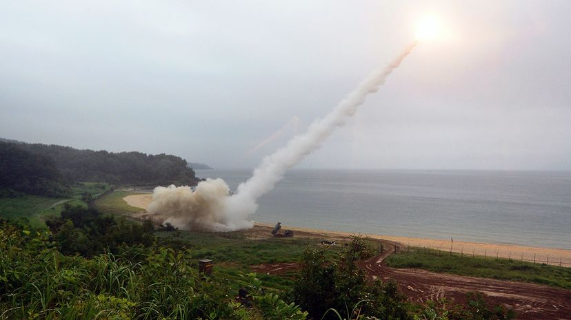 ATACMS fires a missile