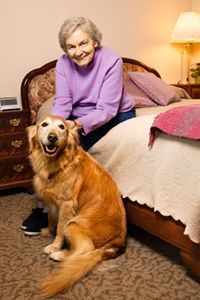 Eden Alternative homes provide animals for companionship.