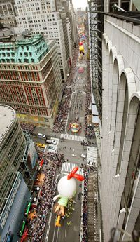 After you watch the Macy's parade, head out into the city for Thanksgiving dinner.