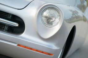 Nadean's headlights were frenched into custom-formed teardrop-shaped coves.