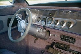 Nadean's interior included mauve-colored cloth seats and an Alpine six-speaker CD stereo.