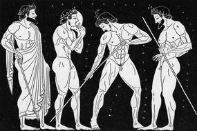 illustration of greek athletes