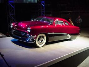 """An original 1949 Ford that has been """"chopped and channeled."""""""