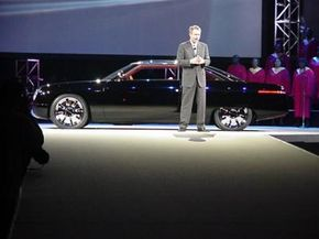 J. Mays introduces the Ford Forty-Nine Concept Car, inspired by the original 1949 Fords.