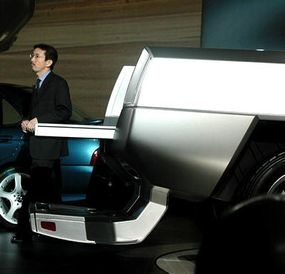 The Nissan concept truck's tailgate.