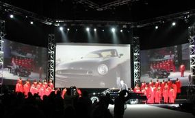 The debut of the Ford Forty-Nine concept car.