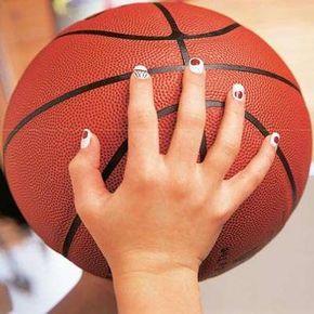 Try the MVP nail art design.