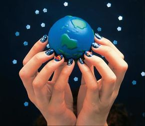 Try the out of this world nail art design.