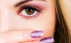 Getting Beautiful Skin Image Gallery Sparkly nail polish can hide a multitude of sins. See more getting beautiful skin pictures.