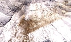 The Earth Observatory provides images like this one, the plume from Shiveluch Volcano.