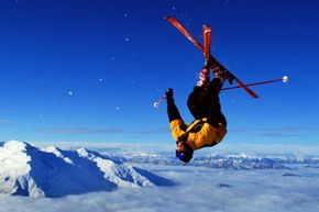 Winter Sports Image Gallery When you're upside down in freezing cold air with the sun in your face, having the right ski gear is essential to your safety. That's where NASA comes in. See more winter sports pictures.