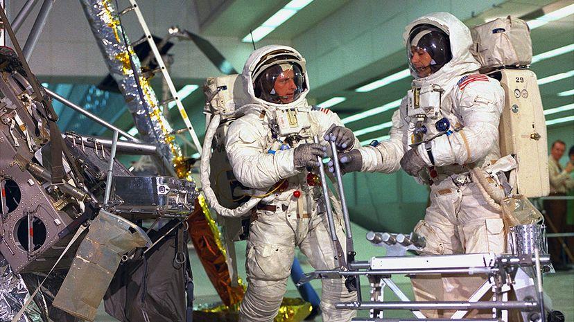 Apollo 12 Commander Charles 'Pete' Conrad and Apollo 12 astronaut Al Bean