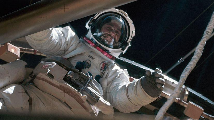 Astronaut Owen Garriott in the Sklab 3 Extravehicular Activity
