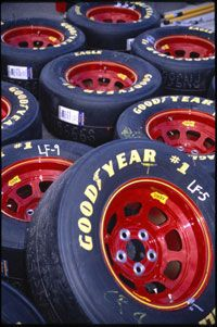 Goodyear provides the tires for NASCAR Winston Cup cars.