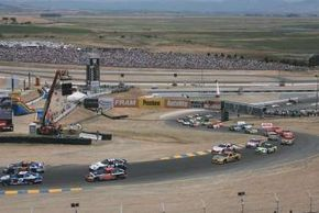 The Infineon Raceway is unusual in that it features both left- and right-hand turns. See more NASCAR pictures.