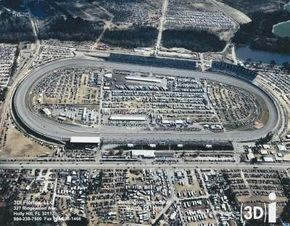 Each corner at Darlington Raceway has a different radius, making it tricky to turn.
