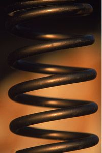 This is an example of a typical kind of suspension spring that may be used in NASCAR race cars.
