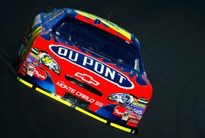 Jeff Gordon during practice for the Bank of America 500 at Lowe's Motor Speedway on Oct. 11, 2007, in Concord, N.C.