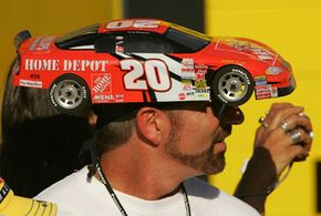 NASCAR sponsors find clever ways to get their company name or logo in front of the fans -- at home and at the track.