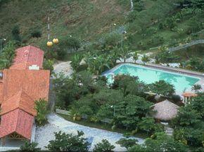 Hacienda Napoles, Colombian drug lord Pablo Escobar's 3,700 acre estate, in a photo taken in 1988.