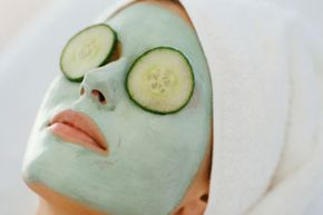 Cucumber: works on the lips as well as it does the eyes.