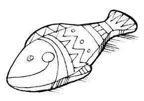Make a plaster forever fish.