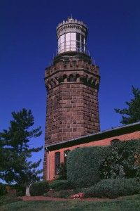 Few lighthouses in America have been constructed as sturdily as the Navesink Lighthouse, with its massive brownstone blocks and fortress-thick walls. See more pictures of lighthouses.